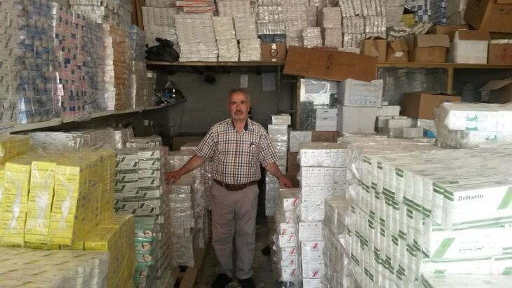 Dr. Adnan Wahhoud among medical supplies for Syria