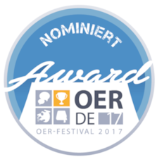 Badge für OER-Award-Nominierung 2017
